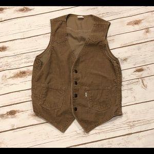 Vintage Levi's Corduroy Vest Size S